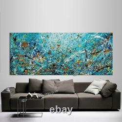 Vintage Beauty 109 Painting 72 Jackson Pollock style, Large Abstract on canvas