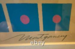 Vintage Bob Montgomery Signed and Numbered Serigraph MCM Pop Art 1970's