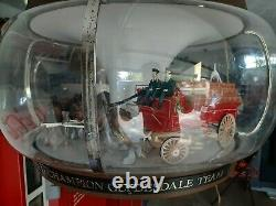 Vintage Budweiser Beer Clydesdale Parade Rotating Carousel Bar Light Pub Sign