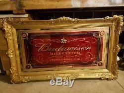 Vintage Budweiser Millennium Beer Signs, Mirrors