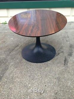 Vintage, Burke Signed, Rosewood Top, tulip base, Coffee Table