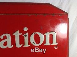 Vintage Carnation Ice Cream Single Sided Advertising Sign RARE