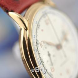 Vintage Chronograph Rare Swiss Caliber Angelus 250 Solid 18k Gold Signed Revue