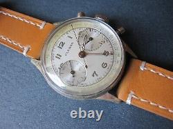 Vintage Clebar Chronograph watch Cal. Landeron 148 Triple Signed Circa 1940