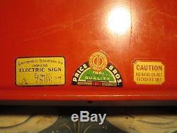 Vintage Coca Cola 1950's Have A Coke Hanging Light Up Sign Price Bros Original