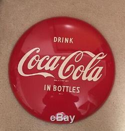 Vintage Coke Button 16 Tin Sign Button Advertising Drink Coca Cola In Bottles