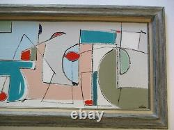 Vintage Contemporary Abstract Modernist Modernism Colorful Bold Expressionism