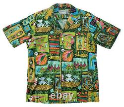 Vintage Disney 1964 ENCHANTED TIKI ROOM Hawaiian Shirt DISNEYLAND Medium Signed