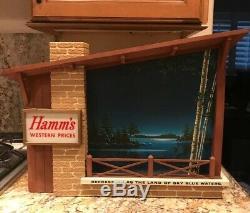 Vintage Electric Hamm's Beer Sign Starry Skies Dynamic Scrolling Light WORKS