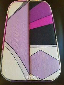 Vintage Emilio Pucci 1960 silk Signed Emilio Box Bag Excellent Condition