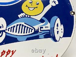 Vintage Esso Gasoline Porcelain Sign Gas Oil Pump Plate Oil Service Station