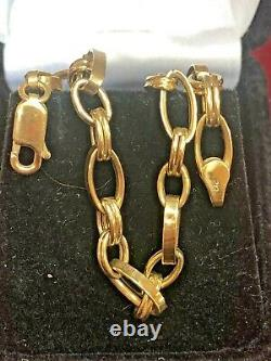 Vintage Estate 10k Gold Bracelet Designer Signed Otc Solid Made In Italy