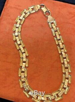 Vintage Estate 14k Gold Bracelet Made In Italy Signed