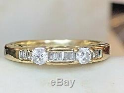 Vintage Estate 14k Gold Diamond Band Wedding Anniversary Designer Signed Lgl