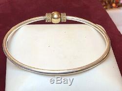Vintage Estate 14k Gold & Sterling Silver Cape Cod Bracelet Signed Gr Bypass Ban