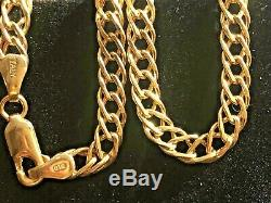 Vintage Estate 14k Solid Yellow Gold Bracelet Chain Signed Otc Made In Italy