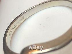 Vintage Estate 14k White Gold Diamond Ring Engagement Wedding Signed Art Carved
