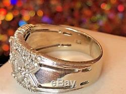 Vintage Estate 14k White Gold Diamond Wedding Anniversary Band Signed Bh Effy