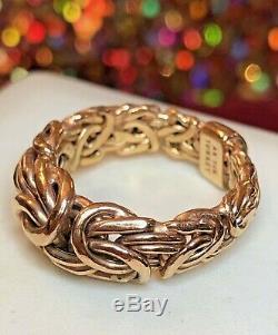 Vintage Estate 14k Yellow Gold Band Ring Benzentine Ring Turkey Signed Ak