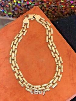 Vintage Estate 14k Yellow Gold Bracelet Made In Italy Signed Chain