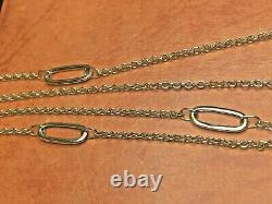 Vintage Estate 14k Yellow Gold Necklace Designer Signed Dyadema Made In Italy