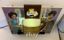 Vintage Falstaff Beer Beautiful Ladies Bubbler Motion Lighted Sign Rare! Working
