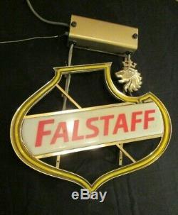 Vintage Falstaff Beer neon lighted bar man cave sign
