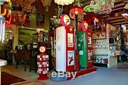 Vintage Gas Pump Fueling Island 1940s