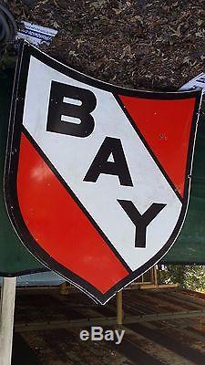 Vintage Gas Station Old Porcelain Sign