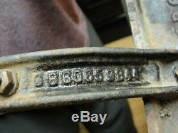 Vintage Griswold Cast Iron Gas Grill 3 Burner Camp Stove Marked signed bottom