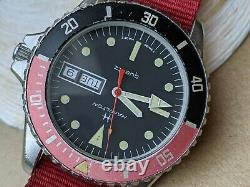 Vintage Hamilton 20 ATM Day-Date Diver withPatina, Signed Crown, Monnin All SS Case