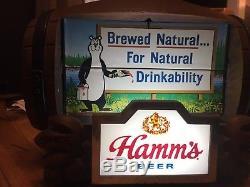 Vintage Hamm's Beer Barrel Sign Flip Motion 8 Scenes Lighted Sign