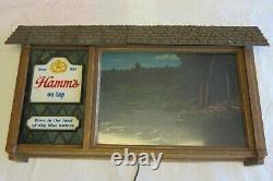 Vintage Hamm's Beer Scene O Rama Scrolling Sign Sky Blue Waters 1960's