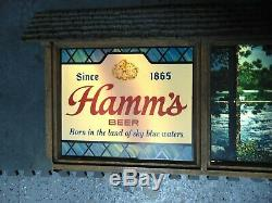 Vintage Hamms Advertising Beer Rippler Scene O Rama Sign Rare Read All Has Flaws