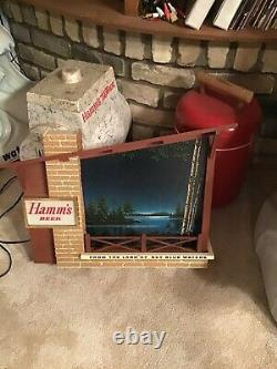 Vintage Hamms Beer Lighted Motion Sign Large Starry Nights