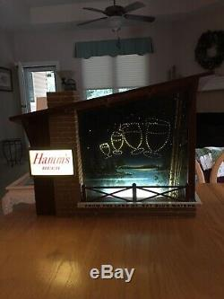 Vintage Hamms Lighted Goblets Starry Night Beer Sign