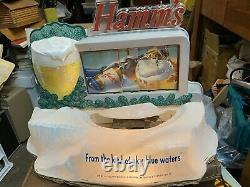 Vintage Hamms beer Mechanical sign in good working condition no bear