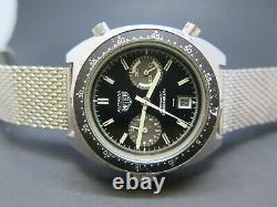 Vintage Heuer Autavia 11063 V Kenya Military 82AF Signed Genuine Cal 12 Watch