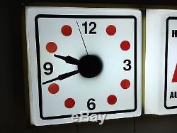 Vintage Hurst Shifters Sign Clock Chevy, Mopar, Pontiac, Oldsmobile, Corvette