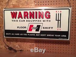 Vintage Hurst Shifters Sign Ford, Chevy, Mopar, Pontiac, Oldsmobile, AMC