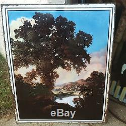 Vintage Maxfield Parrish Porcelain Sign Peaceful Valley