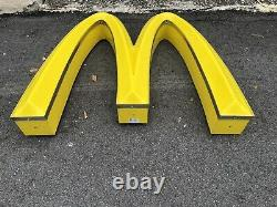 Vintage Mcdonalds Fast Food Golden Arches Restaurant Sign 36'' WIDE X 21'' TALL