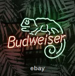 Vintage NEON LIGHT SIGN LIZARD Beer Bar Pub Artwork Poster LED 17x13