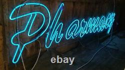 Vintage NEON PHARMACY Sign Over 10 feetlong