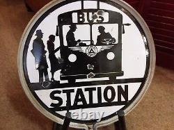 Vintage NJ Transit Bus Stop Sign
