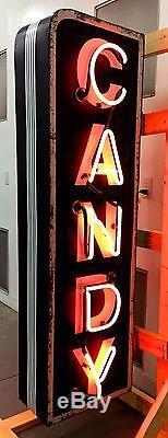 Vintage Neon Sign, Candy, Art Deco, Original