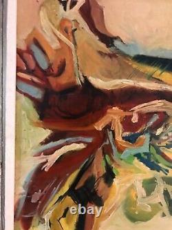 Vintage Oil Painting-Texas/Ohio Artist-Abstract-Modernist
