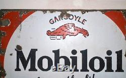 Vintage Old Rare Mobil Oil Motor Oil Gas Station Porcelain Adv Enamel Sign Board