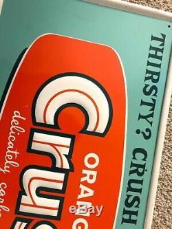 Vintage Orange Advertising Crush Sign