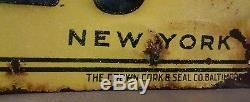 Vintage Original 1930's Baby Ruth Candy Bar not Soda Tin Metal Embossed Sign